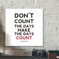 Placa Decorativa - Don´T Count