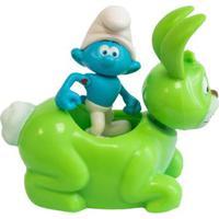 Veículo Com Mini Figura - Smurfs - Hefty Smurf E Bucky - Sunny