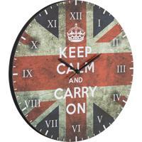 Relógio De Parede Keep Calm Vermelho