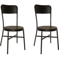 Conjunto Com 2 Cadeiras De Cozinha Carla Corino Preto