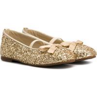 Babywalker Glittered Ballerina Flats - Dourado