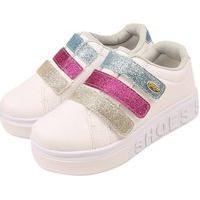 Tênis Casual Infantil Juvenil Grugui Shoes Menina Colorido Branco