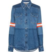 Calvin Klein 205W39Nyc Camisa Jeans Mangas Longas - Azul