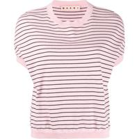 Marni Blusa De Tricô Com Listras - Rosa