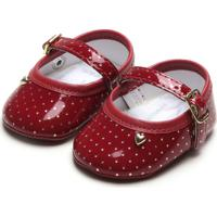 Sapato Pimpolho Menina Coração Vinho