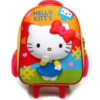 Mochila De Rodinhas Max Toy Hello Kitty Laranja