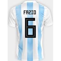 69df83fa8da83 Netshoes  Camisa Seleção Argentina Home 2018 N° 6 Fazio - Torcedor Adidas  Masculina - Masculino