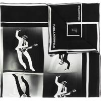 Karl Lagerfeld Lenço Com Estampa - Preto
