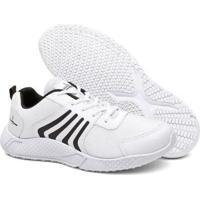 Tênis Running Super Confortavel Masculino - Masculino-Branco