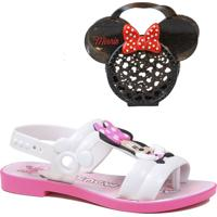 Sandália Infantil Minnie Mouse Grendene Kids + Brinde Bolsa Minine