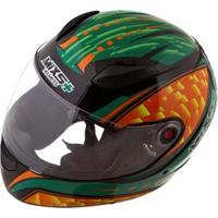 Capacete Mixs Helmets Fokker Flame - Preto/Verde