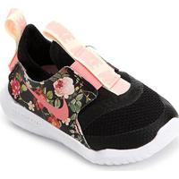 Tênis Infantil Nike Flex Runner Floral Feminino - Feminino-Preto+Pink