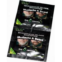 Shampoo Escurecedor De Barba Dexe Black Beard 2X 15Ml - Masculino-Incolor