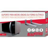Suporte Para Microondas E Forno De Parede - Prata - Sbr3,7 - Brasforma