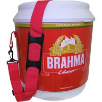Cooler Térmico Brahma Brasil 20 Litros 12 Latas Com Alça De Transporte Vermelho