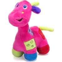 Chocalho De Pelucia Unik Toys Girafa Rosa