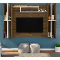 Painel Para Tv 55 Polegadas Taiana Cedro E Branco 205
