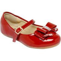 Sapato Boneca Com Termocolantes & Laã§O - Vermelha- Luluzinha
