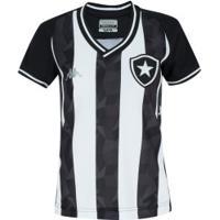 Camisa Do Botafogo I 2019 Kappa - Feminina - Preto/Branco