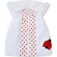 Porta Bebê Padroeira Baby Joaninhas Vermelho