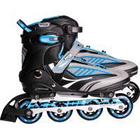 Patins Inline Rollers Future Abec-7 - Azul 41 Belfix