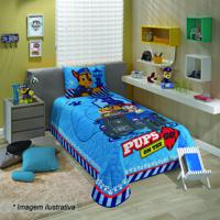 Colcha Patrulha Canina® - Solteiro- Azul & Vermelha-Lepper