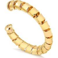 Bracelete Francisca Joias Maxi Regulável Folheado Ouro 18K Feminino - Feminino-Dourado