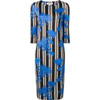 Diane Von Furstenberg Vestido De Seda Estampado - Azul