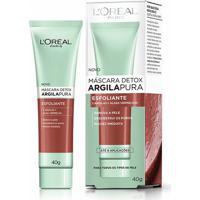 Máscara Facial Detox Argila Pura Esfoliante Loreal 40G