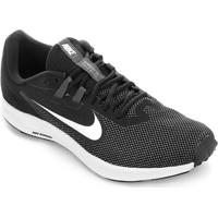 Tênis Nike Downshifter 9 Masculino - Masculino-Preto+Branco