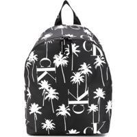 Calvin Klein Kids Mochila Com Estampa De Palmeira - Preto