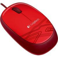 Mouse Logitech M105 Vermelho 1000Dpi - 910-002959 - Unissex-Preto