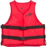 Colete Salva Vidas Homologado Classe V Basico 1 A Aquaticos Mormaii - Unissex-Vermelho