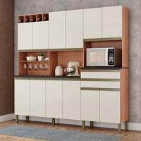 Cozinha Compacta Malbec Prime 12 Pt 2 Gv Castanho E Champagne