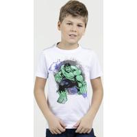 Camiseta Infantil Estampa Hulk Manga Curta Marvel