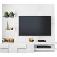 Home Suspenso Turim Para Tv De Até 55'' - 100% Mdf - Branco Laca
