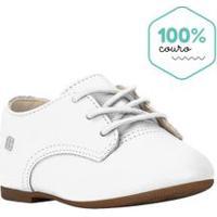 Sapato Infantil Em Couro Branco - Bibi - 27