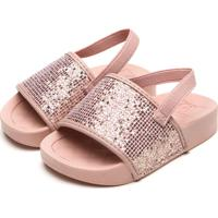 Sandália Molekinha Infantil Glitter Rosa