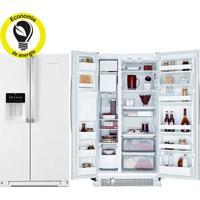 Refrigerador   Geladeira Brastemp Frost Free Side By Side Com Dispenser De Água 560 Litros Branco - Brs62Cb