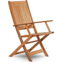 Cadeira Dobrável Gourmet De Madeira Para Piscinas Com Braços Acqualung+ Stain Jatobá