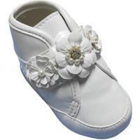 Botinha Para Bebê Tico'S Baby Flores Branca