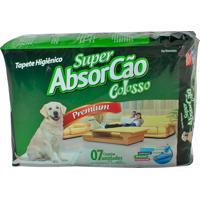 Super Absorcão Premium Colosso Tapete Higiênico Para Cães Com 7 Unidades