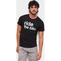 Camiseta Gajang Ride The Bike Masculina - Masculino-Preto