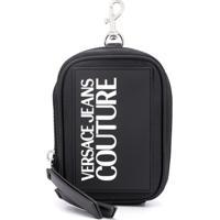 Versace Jeans Couture Porta Moedas Chaveiro Com Logo - Preto