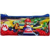 Estojo Escolar Simples Super Mario Broz Kart