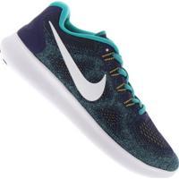 Tênis Nike Free Rn 2017 - Masculino - Azul Esc/Branco