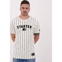 Camiseta Starter Vintage Listrada Off White