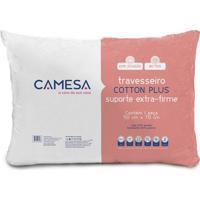 Travesseiro Cotton Plus- Branco- 70X50Cm- Camesacamesa