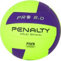 Bola De Vôlei Penalty Pro 8.0 Termotec - Amarelo/Roxo