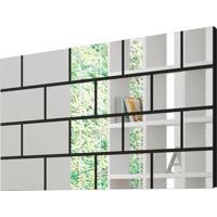 Painel Decorativo Tb90 Espelhado 1,40M Preto Brilho